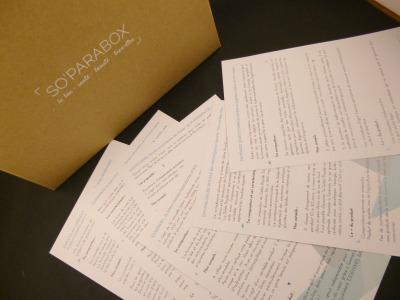 Soparabox fiches