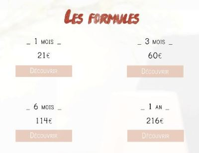 Candle Box les formules