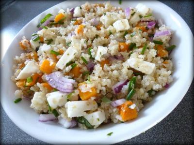 Quinoa à la courge butternut et à la feta