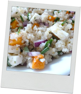 Quinoa courge butternut et feta